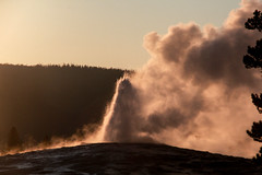 Old Faithful with late light - Explored (RPahre) Tags: geyser uppergeyserbasin upperbasin oldfaithful sunset steam explored robertpahrephotography donotusewithoutpermission copyrighted allrightsreserved