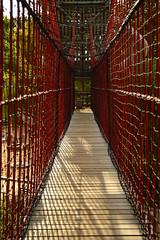 Rope bridge (radargeek) Tags: tulsa ok oklahoma thegatheringplace playground park ropes castle adventureplayground