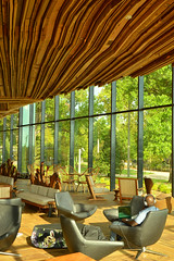 Relaxing in the Lodge (radargeek) Tags: tulsa ok oklahoma thegatheringplace playground park lodge ceiling wooden architecture