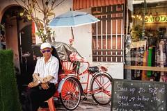 That Look 😎 (-Faisal Aljunied - !!) Tags: faisalaljunied thatlook eyecontact umbrella rickshaw penang malaysia georgetown sonya6400