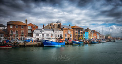 Old Harbour (RTA Photography) Tags: weymouth dorset harbour oldharbour water sea boats sky landscape outdoors nikon d750 nikond750 rtaphotography clouds light colour jurassiccoast tamron2470mmf28vcusd