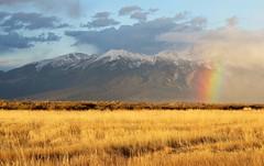 Rainbow's End (Patricia Henschen) Tags: sanluisvalley sangredecristo mountains blanca massif clouds storm spring rainbow goldenhour wetland nwr nationalwildliferefuge alamosa colorado