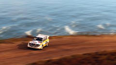 don't look, but don't lift (nuvoIari) Tags: forzamotorsport horizon4 videogame audi sportquattros1 rally car sea ocean coast cliff
