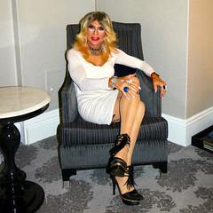 Cortney - Blonde in White (Cortney10100) Tags: cortneyanderson cortney anderson black nylons portrait xdresser feminized cd transvista mtf m2f tv tg tgirl tgurl transgender heels highheels femme tranny trannie transsexual transvestite crossdress crossdresser stilettos thigh people white