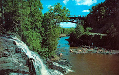 Gooseberry Falls (WOODSHED Revisited) Tags: gooseberry falls state park castle danger two harbors minnesota minn mn outside outdoors nature waterfalls river campground ccc civilian conservation corps new deal history historic onlyinmn upnorth post card postcard