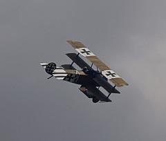 2019_08_0152 (petermit2) Tags: fokkerdr1triplane fokkerdr1 fokker dr1 triplane greatwardisplayteam eastkirkbyairshow2019 eastkirkbyairshow eastkirkby airshow spilsby lincolnshire