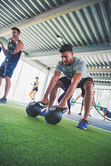 Weightlifting session (Pavigym Int) Tags: weightlifting turf kettlebells weighttrainingflooring wexo
