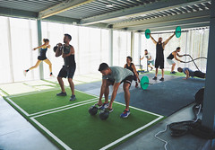 Weightlifting session (Pavigym Int) Tags: training trainers weightlifting weight turf barbell kettlebells weighttrainingflooring wexo