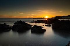 Sea is beautiful (uluqui) Tags: fuji fujifilm longexposure agde coast beach sea water landscape paysage twilight outside sunset shore wanderlust adventure nature france art sky light rock roche sun