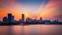 Yokohama at sunset (modesrodriguez) Tags: japan japon travel yokohama sunset tokyo bucketlist landscape cityscape sky orange goldenhour