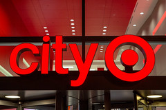 city Target (ezeiza) Tags: california ca sanfrancisco san francisco downtown urban center citytarget city target targetstores store retail sign bullseye logo revolving door night metreon