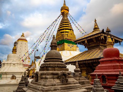 Stupa budista de Swayanbunath. Katmandú