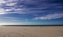 Pasos - Steps (ricardocarmonafdez) Tags: seascape beach playa shore seashore horizon mar sea cielo sky nubes clouds sunlight light arena sand nikon d850 color blue nature solitude people serenity