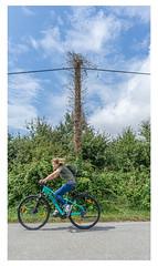 Cycling... (LukeDaDuke) Tags: sarzeau breizh bretagne france frankrijk frankreich francia lafrance street streetphotography streetlife bike bicycle cycle bikelane road electricity
