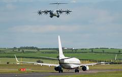 165833 C-40, Prestwick (wwshack) Tags: a400m airbusdefenceandspace airbusmilitary atlas boeing boeing737 c40 clipper egpk glasgowprestwick pik prestwick raf royalairforce scotland usnavy 165833
