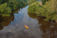 Drifting down the river (microwyred) Tags: forestwoods landscape nature water greencolor kayak forest adventure summer recreationalpursuit oar tree river people landscapes nauticalvessel outdoors leisureactivity canoeing kayaking
