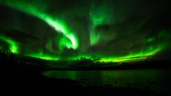 Aurora Borealis, Torneriver (bholmbom81) Tags: trees sky green water night river rocks sweden kiruna auroraborealis torneriver bjornholmbom björnholmbom