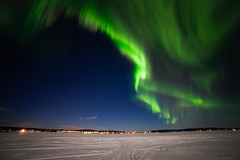 Aurora Borealis, Torneriver (bholmbom81) Tags: trees winter sky snow stars lights frozen arctic auroraborealis jukkasjärvi torneriver poikkijärvi bjornholmbom björnholmbom