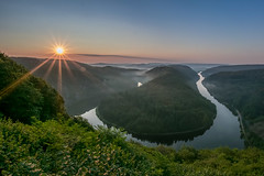 Horseshoe Bend made in Germany (marionrosengarten) Tags: saarschleife saarland river saar sunrise sunstar nature landscape sonnenaufgang nikon hdr saarloup sigma uww wideangle