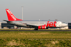 G-CELG (PlanePixNase) Tags: amsterdam ams eham schiphol planespotting airport aircraft jet2 boeing 737 b733 737300