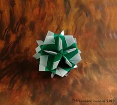 Birthday (mancinerie) Tags: origami paperfolding papiroflexia papierfalten polyhedra francescomancini modularorigami mancinerie geometry kusudama