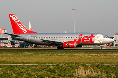 G-CELA (PlanePixNase) Tags: amsterdam ams eham schiphol planespotting airport aircraft jet2 boeing 737 b733 737300