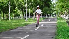 SAKURAKO rides an Electric Kick Scooter. (MIKI Yoshihito. (#mikiyoshihito)) Tags: sakurako 櫻子 さくらこ 娘 daughter サクラコ 長女 10歳10ヶ月 eldestdaughter electrickickscooter 電動キックボード 電動キックスクーター