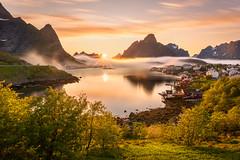 Lofoten Light (Sinclair's) Tags: lofoten reine midnight sun summer light sunset mountains water