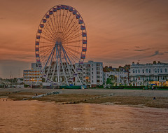 The Worthing Observation Wheel (WOW) Golden Hour (Dave Sexton) Tags: united kingdom uk england west sussex worthing observation wheel wow sea beach lights reflections calm night panasonic lumix g9 leica 1260mm f28 dxo nik hdr efex photolab affinityphoto