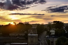 Rooftop of Bristol Hotel (Kelly O'Leary) Tags: sunset rooftop rooftopbar city yellow sun bristolva bristol