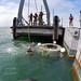 The Orion Space Shuttle recovery training exercise.