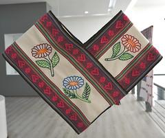 Mexico Oaxaca Textiles Quechquemitl (Teyacapan) Tags: quechquemitl mexican clothing flowers embroidery museum oaxaca inesnavarrogomez