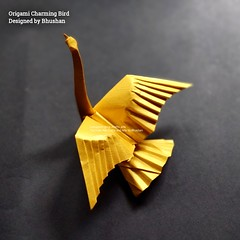 Origami Charming Bird Designed by Bhushan (me) (My Crafts and Arts) Tags: origami origamibird charmingbird