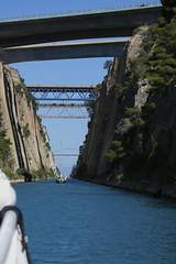 Corinth canal (dramadiva1) Tags: canon corinth canal water bridges tourist