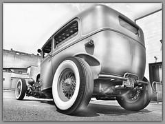 Wide Whites.  New Castle, PA (bobchesarek) Tags: ford 1930fordmodela fordmodelatudorsedan sedan carshow carart hotrod