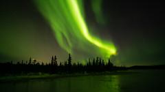 Aurora Borealis in Swedish Lappland (bholmbom81) Tags: auroraborealis björnholmbom 2018 forest ice jukkasjärvi lake nature sautusjärvi snow trees nordlys norrsken oktober