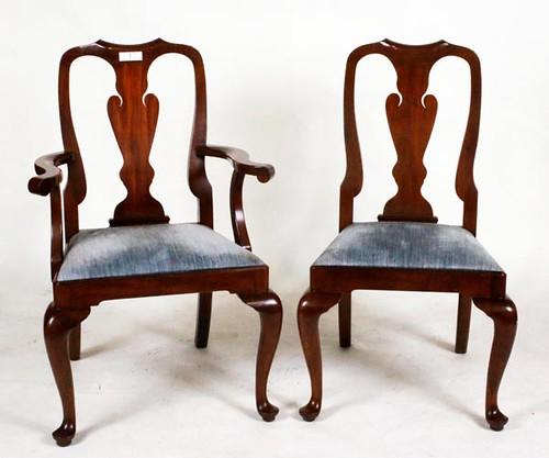Set of 10 Queen Ann Henkel Harris Dining Chairs ($504.00)