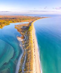 Dunes Lumineuses (ThibaultPoriel) Tags: bénodet finistère france mousterlin dunes letty djiphantom4pro aerial sunset water sea seascape