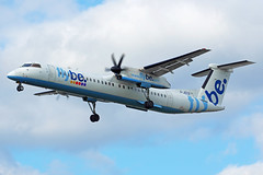 G-JECO 22/08/19 Heathrow (EGLL) (Lowflyer1948) Tags: gjeco dhc8402 220819 heathrow myrtleavenue flybe