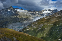 The Rhône Glacier and the Furka pass area , Canton of Valais & Uri. Switzerland. No. 2006. (Izakigur) Tags: luz lumière light licht ضوء אור प्रकाश ライト lux światło свет ışık ליכט nikon d700 izakigur switzerland svizzera lasuisse lepetitprince thelittleprince ilpiccoloprincipe helvetia liberty flickr feel europe europa dieschweiz ch musictomyeyes nikkor suiza suisse suisia schweiz suizo swiss سويسرا laventuresuisse myswitzerland landscape alps alpes alpen schwyz suïssa valais glacier water jakubjózeforliński