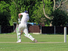 Photo of Eastons CC v. Chappel and Wakes Colne CC at Little Easton, Essex, England 01
