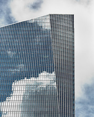 Clouds In The City (Mike Schaffner) Tags: architecture building clouds glass reflections skyscraper