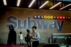 Subway. New York City. (Capitancapitan) Tags: subway manhattan nyc new york city night life neury luciano music pop rock instagram street photography facebook colors pentax k50 k70 k500 people waling tren transit
