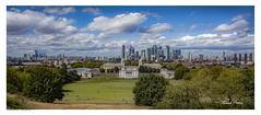 London Panorama from the Royal Observatory, Greenwich. (Richard Murrin Art) Tags: londonpanormafromtheroyalobservatory greenwich uk england sky cloud city richard murrin art