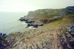 Along The Coast (Bas Tempelman) Tags: gower peninsula wales united kingdom shore sea rocks stones cliffs bristol channel kodak portra 160 nikon f801s walking path coast port eynon
