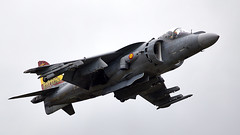 Harrier (Bernie Condon) Tags: bae mcdonnelldouglas harrier av8b matador fighter span amada spanishnavy warplane jet vstol jumpjet yeovilton rn navy royalnavy airday rnas hmsheron airshow display aircraft plane flying aviation uk