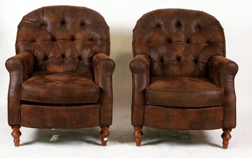 Pair of Suede Club Chairs ($840.00)