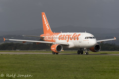 G-EZIO Airbus A318 Easyjet Glasgow airport EGPF 17.08-19 (rjonsen) Tags: plane airplane aircraft aviation airliner taxying airside special scheme livery