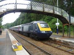 ScotRail Class 43 130 heads an Inverness service at Dunkeld & Birnam. (calderwoodroy) Tags: scotland perthshire tayside perthkinross dunkeld birnam highlandmainline train transport railway scotrail highlandrailway dunkeldbirnamstation scotrailinter7city hst highspeedtrain class43 43130