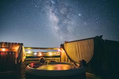 Enjoying the night sky (M///S///H) Tags: fence backyard hottub canonfd24mmf14 a7riii newmexico me stars sony nighttime kelly nightsky taos jupiter spa starrynight milkyway hottubbing solarlights newmexicotrue galaxy